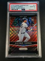 GLEYBER TORRES 2018 PANINI PRIZM RUBY WAVE REFRACTOR ROOKIE RC /199 PSA 10 NY