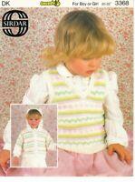 "Sirdar Knitting Pattern Hooded Jacket Tank Slipover Fair Isle DK 20-22"" Vintage"