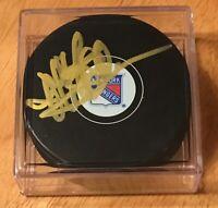 Jeff Beukeboom New York Rangers Autograph Signed Hockey Puck