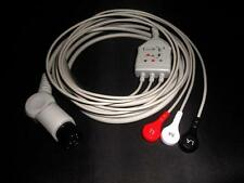 Compatible 6 pins one-piece ECG cable, snap, 3 leads, AHA YLH4212T [M_M_S]