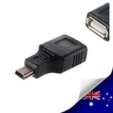 USB A Female to Mini USB B 5 Pin Male Charger & Data Adapter Converter (N039)