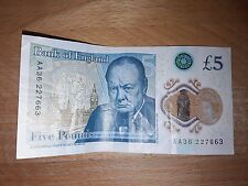 AA26 Bank Of England £5 Five Pound Note - New issue Plastic/Polymer