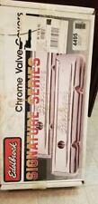 NEW Edelbrock 4495 Signature Series Chrome Valve Covers Chrysler 318-360