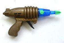 Vintage 1990's WEIHUA SPURT FIRE GUN Space Ray Gun Sparkling Pistol Blue