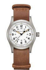 Hamilton Khaki Field Mechanical Black Dial Leather Band Men's Watch H69439511
