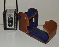 NICE Vintage ARGOFLEX Seventy Five 1940s Bakelite Box Camera w Leather Case Rare