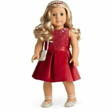 American Girl Tis The Season Party Dress New In Box Plus Shoes & Purse