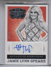 """2014 PANINI COUNTRY JAMIE LYNN SPEARS SILVER #48/49 """"ZOEY 101""""  AUTOGRAPH AUTO"""