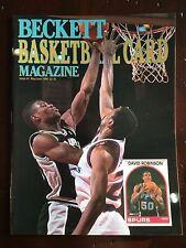 1990 Beckett Basketball Magazine - Issue #2 David Robinson and Karl Malone