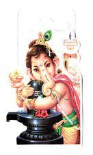 Traditional Ganesh/Ganapti with Shivling Paper Adhesive Sticker –Hindu Religious