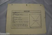 actual used makeup chart for Babylon 5, Zoe. for makeup artist S4