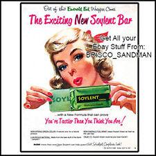Fridge Fun Refrigerator Magnet SOYLENT GREEN MOVIE Spoof Ad Classic 70s Retro