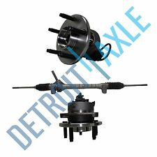 Set Power Steering Rack and Pinion + 2 Wheel Hub Bearing Assembly 5 Bolt w/ ABS