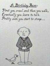 Unused Getting Old Birthday Greeting Card Humor Dale Cards Poem Pigeon Poop Nos