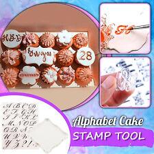 Plexiglass Transparent Stamp Rubber Stamp Alphabet Cake Stamp Tool