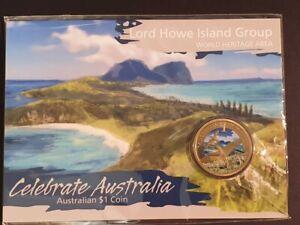 AU - 2012 - LORD HOWE ISLAND GROUP - ONE DOLLAR COLOUR CARDED COIN