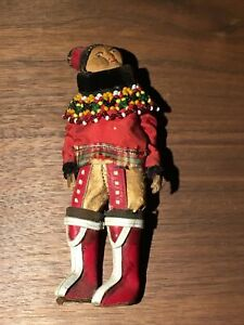 "Native American Indian Doll 6"" Vintage Leather Doll"