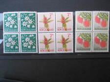 NEW ZEALAND 1960 PICTORIALS 6d,7d,8d IN BLOCKS 4 NHM  SG788/9