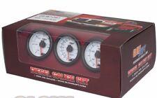 GlowShift White 7 Color Diesel Gauge Set - Boost Pyrometer EGT 100 Fuel Pressure