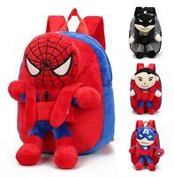 3D Bags Superman Batman Spiderman Captain America Kids Backpack kindergarden bag