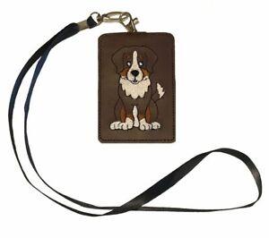 Australian Shepherd Dog ID Lanyard Wallet