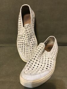 Frye Gemma Gray Woven Slip On Shoes Size 8M