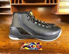 a273577f03e Under Armour Mens UA Curry 3 High Top Basketball Shoe Black Grey Gold NEW