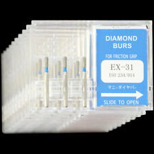 10 Boxes EX-31 MANI DIA-BURS Extra Shape Standard Grit Dental Diamond Bur