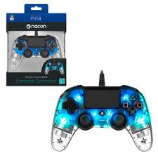 Mando con cable Nacon Compacto Azul Cristal Luz para PS4 PC NUEVO envio gratis