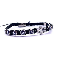 Energy Yoga Man Women Lucky Bracelets Black Hamsa Hand Fatima Evil Eye