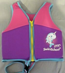 Swim School Trainer Life Vest Level 2 Age 4 - 6 Years 50 lb Max Foam Flexes NEW
