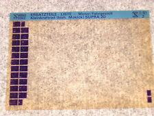 Microfich Ersatzteilkatalog Ersatzteilliste Hercules Supra 2D Typ 550 1/81