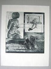 Lithographie  originale signée Femme Erotisme Van Gogh Souliers Amsterdam