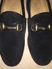 Gucci loafers black suede Size 6 1/2