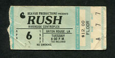 1982 Rush concert ticket stub Baton Rouge Exit Stage Left Spirit of Radio Signal