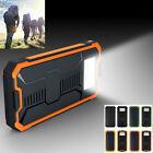 20000mAh Portable Waterproof Solar Charger Dual USB External Battery Power Bank#