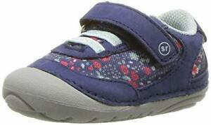 Stride Rite Girls Jazzy Baby Athletic Mesh Sneaker, Navy/Multi, 3 W US Infant