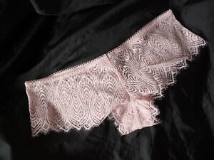 M, Victoria's Secret Peacock Lace Cheeky Panty, Pale Pink, polyamide, NEW