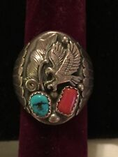Native American Sterling Silver Mens Ring