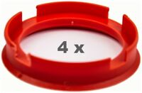 4 x Zentrierring 72.6 mm auf 58.1 mm blutorange / vermillion
