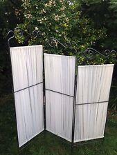 FAVOLOSO Pannello decorativo 3 pieghevole metallo & Cotone STANZA DIVISORE Schermo