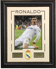 Cristiano Ronaldo Real Madrid Portugal 11x14 framed photo patch collage