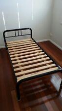 Single bed frame metal w Mattress