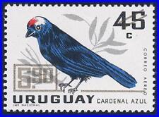 URUGUAY 1968 BIRD gold O/PRINT MNH