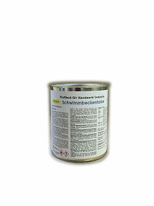 PROFI Schwimmbeckenfarbe Poolfarbe Karibiablau 1 kg für Beton,Metall,GFK,Folie