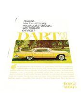 1961 Dodge Dart -  Original Vintage Advertisement Print Car Ad J425