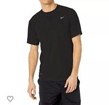 Men's Nike Dri-Fit Heather UPF 40+ UV Swim Shirt color black size M
