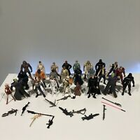Lot of 25 Star Wars Action Figures With Weapons