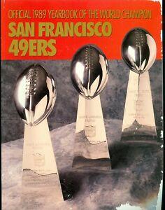 1989 San Francisco 49ers Yearbook with Super Bowl Recap Joe Montana Jerry Rice