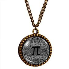 Pi Necklace Symbol Pendant Fashion Math Jewelry Charm Logo Sign Cosplay Pi Day